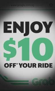 🚚 10 off Grab ride #MakeSpaceForLove