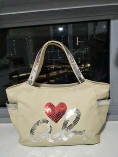 Agnes b tote bag with sequins