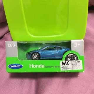 Welly Honda nsx 1:64