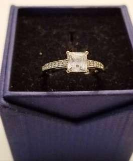 Authentic Swarovski Square Cut Ring size 8
