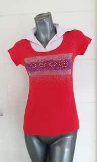 Bebe Hot Red Shirt