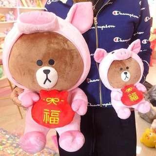 🚚 Line 熊大豬年娃娃 新年禮物