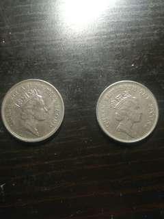 91及92年女皇頭一元兩個