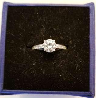 Authentic Swarovski Solitaire Ring Size 7