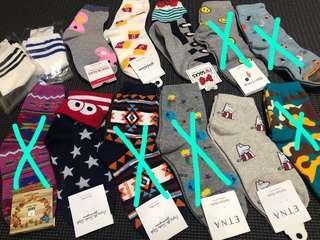 韓國中筒襪/卡通襪