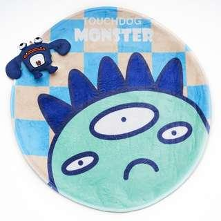 Touchdog non-slip fleece mat & toy - turquoise