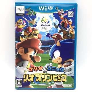 (中古) 原裝日版 WiiU Wii U Game Mario and Sonic Rio Olympic 瑪莉奥 孖寶兄弟 音速小子 里約熱內盧奧運 運動遊戲