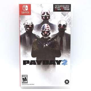(中古) 原裝美版 Nintendo Switch NS Game Payday 2 劫薪日 射擊遊戲