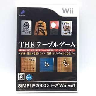 (中古) 原裝日版 Wii Game Simple 棋類 支援四人同樂