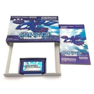 (中古) 原裝日版 GameBoy Advance GBA Game Pokemon Blue 寵物小精靈 比卡超 藍寶石版 角色扮演遊戲