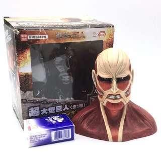 (全新) 購自日本 原裝正品 Attack on Taitan 進擊之巨人 進擊的巨人 LED 眼發光擺件 公仔景品  (#特價)
