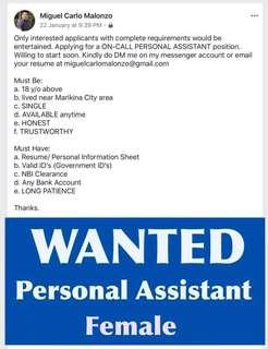 On-Call Personal Assistant