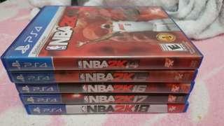 PS4 nba 2K series complete bundle sale or swap