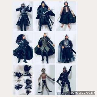 LOTR figurines set of 8