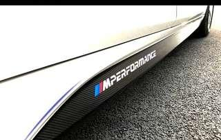 BMW F30 3 series Side Skirt 5D CF Carbon Fibre Sticker