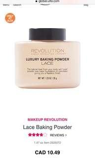 Makeup revolution baking powder in lace
