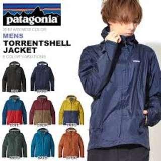 全新 Patagonia Men's Torrentshell Jacket Navy Blue 防水 滑雪