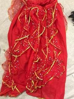 Full set Traditional dance dress Chinese / Indian costume Baju Kebaya