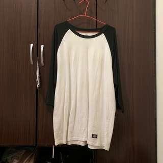 🚚 🧧Dickies 黑白七分袖T-shirt(限godgod..下標)