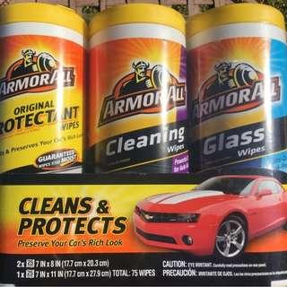 🚚 Armor All Auto Care Cleaning Pack (75 Wipes)-protectant,cleaning,glass wipes