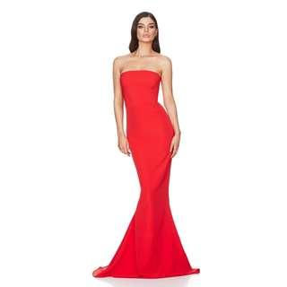 NOOKIE: Angelina Gown - COLOUR: CHERRY - SIZE: XS