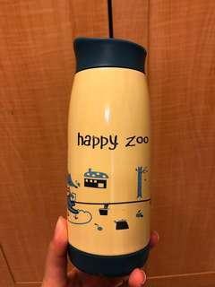 🚚 狐狸米色環保瓶 水壺 保溫杯