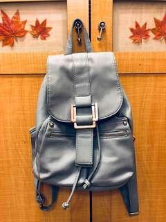 🚚 藍天小舖 藍色束口多袋子後背包
