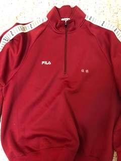🚚 FILA 紅色pullover