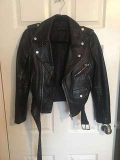 ZARA - LEATHER JACKET - SMALL
