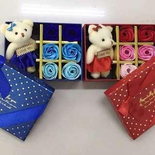 Valentine's teddy bear with soap