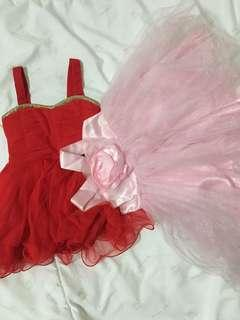 Baby Dress Red & Pink