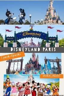 🚚 DISNEYLAND PARIS ETICKET (OPEN DATE)