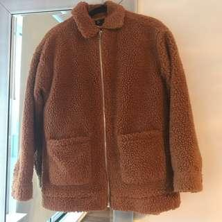 Oversized Teddy coat missguided