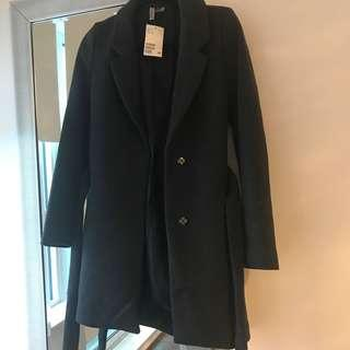 H&M tie waist coat