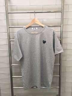 Come Des Garçons Grey Tee Replica Size XL (quite a small fit - more like a m)