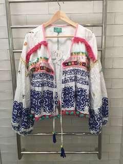 Amtica Santonia Boho Tie Front Top One Size BRAND NEW