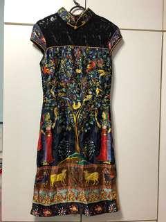 Cheongsam CNY dress (unique Egypt print)