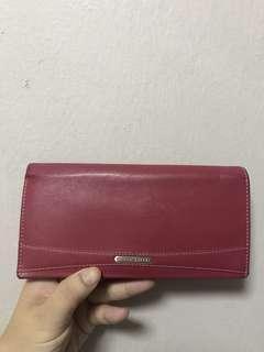 Braun Duffel real leather fuchsia wallet