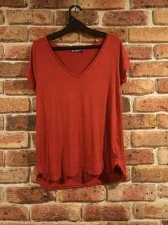 (NEW) COTTON ON red v-neck top