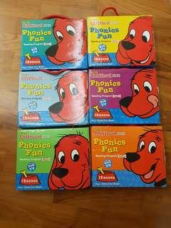 🚚 Clifford the Big Red Dog Phonics Fun complete set (1-6)