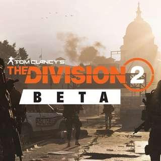 🚚 The Division 2 Beta Invite (PC)