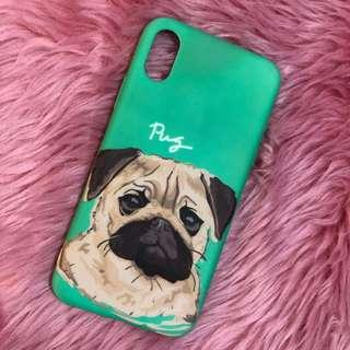 IPHONE X Rubber Case - Pug