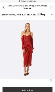 RRP $149.95 BNWT Forever New wrap dress size 6