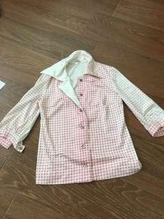 Pink dots Vinatge blouse from Japan