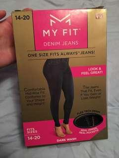 New in Box MyFit Jeans