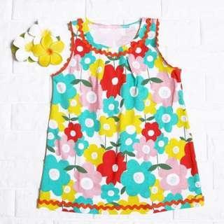 🚚 Instock - colorful floral dress, baby infant toddler girl