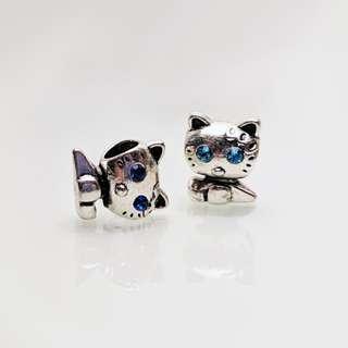 Pandora-Mask Cat&Cat Birthstones Aquamarine and Sapphire - 2 grams ea.
