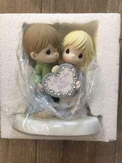 Precious Moments <I Give You My Heart> Porcelain Bisque Figurine