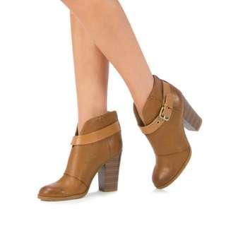 Vianca Cognac Justfab booties - Size 8.5