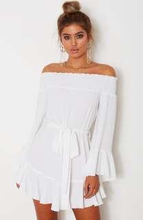 White fox dress - size medium